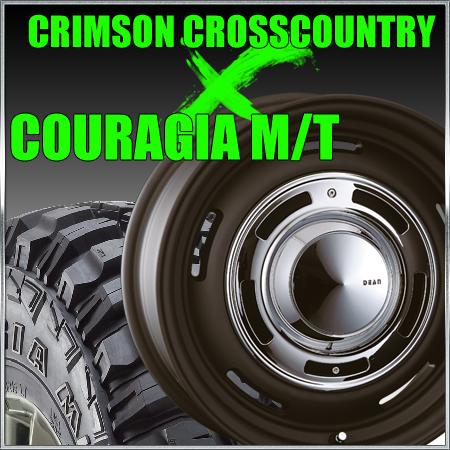 CRIMSON CROSS COUTRY 15x4.5J+43 100x4穴 ブラック クリムソン クロスカントリー&235/75R15 フェデラル FEDERAL COURAGIA M/T クーラジア MT