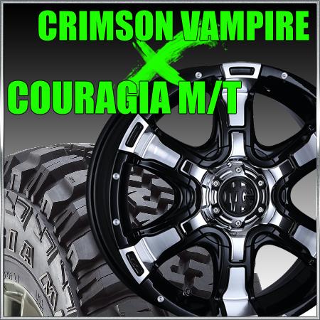 特価ブランド CRIMSON MG VAMPIRE 16x7J+42 114.3/120x10穴 クリムソン マーテルギア ヴァンパイア&265/75R16 フェデラル FEDERAL COURAGIA M/T クーラジア MT FJクルーザー、プラド、ランクル等, BEASTIE VIBES 0c3075a8