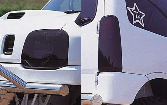 ペニーレイン REX-R ヘッドライトカバー スモーク ジムニー JB23 ライトは付属しません PENNY LANE