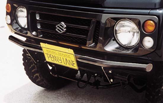 【店内全商品2倍】ペニーレイン RS フロントストレートバンパー II(ブラック)ジムニー JA12 JA22 PENNY LANE