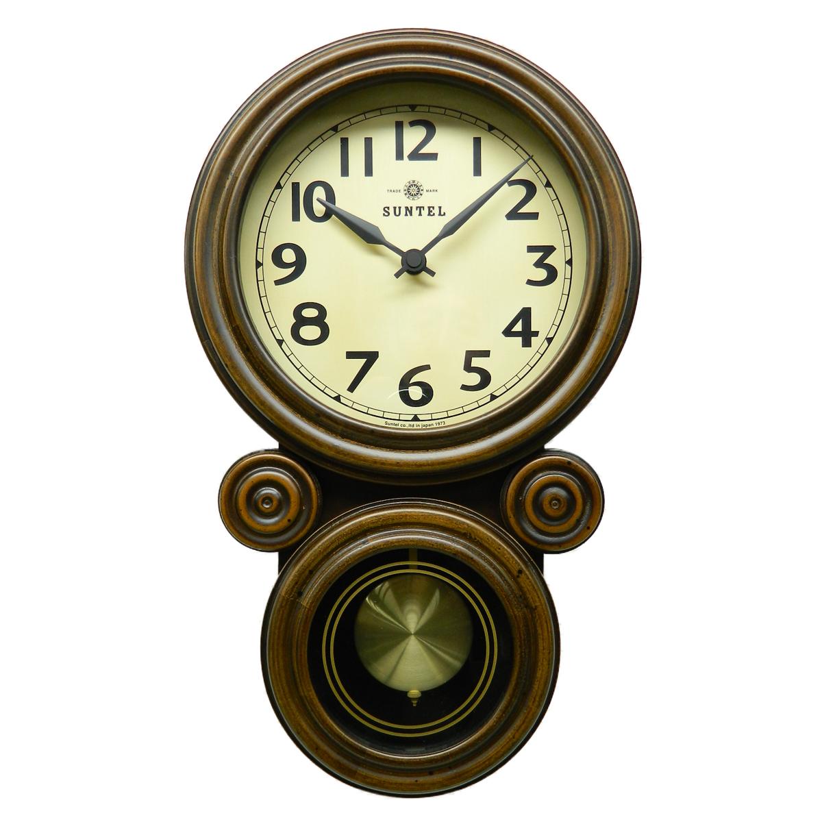 日本製 さんてる ミニだるま 電波振り子時計