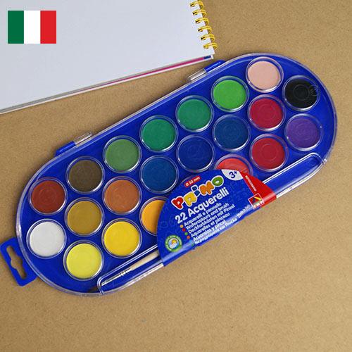 イタリア MOROCOLOR モロカラー 社の 水彩絵具パレット一体型で 初めての方にもオススメの 絵の具 です 固形 付きMOROCOLOR かわいい ラッピング無料 水彩絵具 パレット 倉庫 おしゃれ 海外 22色 輸入文具