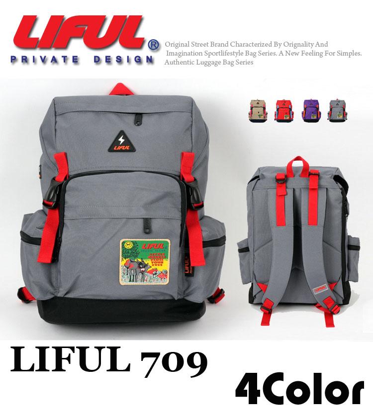 リュックサック ファッション マルチ バックパック イヤホンホール 全4色 lf709