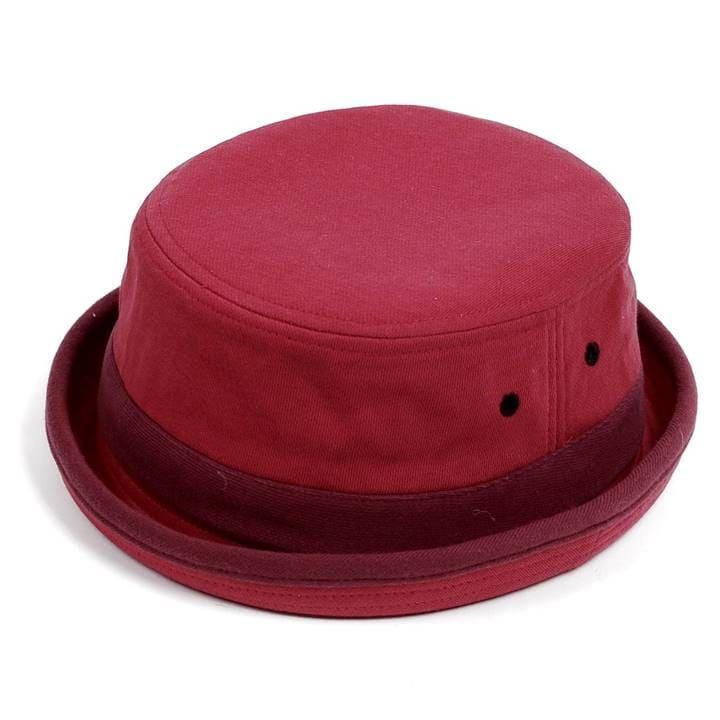 スウェット生地を使用したポークパイハット 形がとてもキレイで型崩れせず深さも丁度良くかぶり心地も抜群 無料 おしゃれの必須品 ポークパイハット メンズ レディース スウェット 正規逆輸入品 フリーサイズ 男女兼用 帽子 58cm ハット帽子 赤色 レッド
