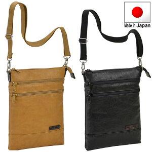 ショルダーバッグ メンズ ミニ カジュアル バッグ 薄型 ななめ掛け 黒とキャメルの2色