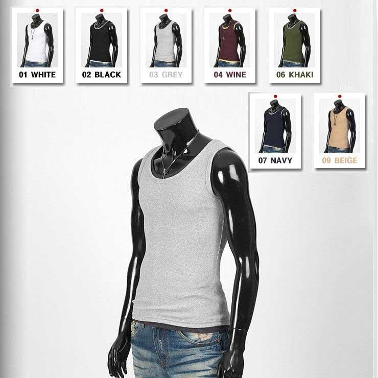 丁度良いフィット感でレイヤード ファッションも素敵 1000円ぽっきり Tシャツ ラウンドネック 人気 おすすめ 基本 袖なし 白 黒 送料無料 グレー tst07 カーキ ネイビー ワイン ベージュの7色 即納 ポッキリ