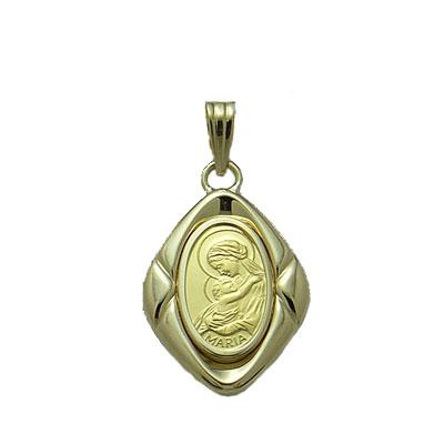 【代引き手数料、送料無料】聖母に見守られて安らぎのひと時を  聖母マリア様を純金でレリーフした1gペンダント02P13Dec14