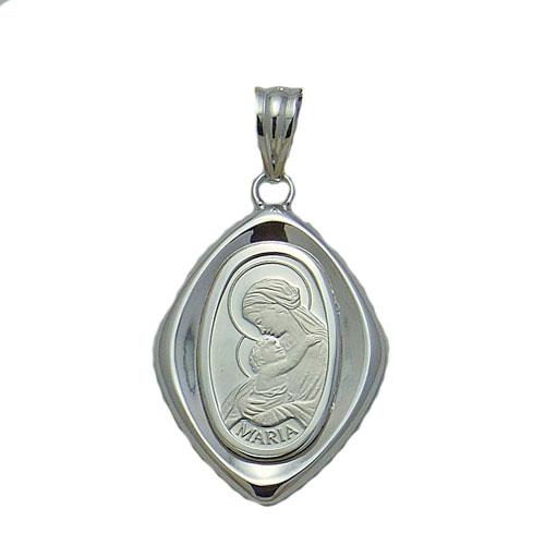 【代引き手数料、送料無料】聖母マリアの白の輝きをファッションで プラチナ聖母マリア2.5gペンダント