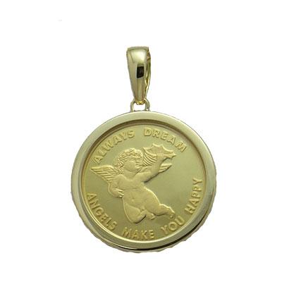【代引き手数料 送料無料】『コインペンダント』 k18 18k 天使コインネックレス コイン エンジェル ペンダント 金 18金 ゴールド メダル ネックレス 可愛い かわいい レディース メンズ ギフト 贈り物 プレゼント 誕生日
