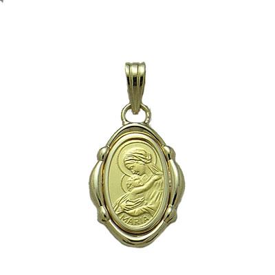 SALENEW大人気! 代引き手数料 送料無料 セール特価 聖母マリア様を純金でレリーフした1gペンダント 聖母に見守られて安らぎのひと時を