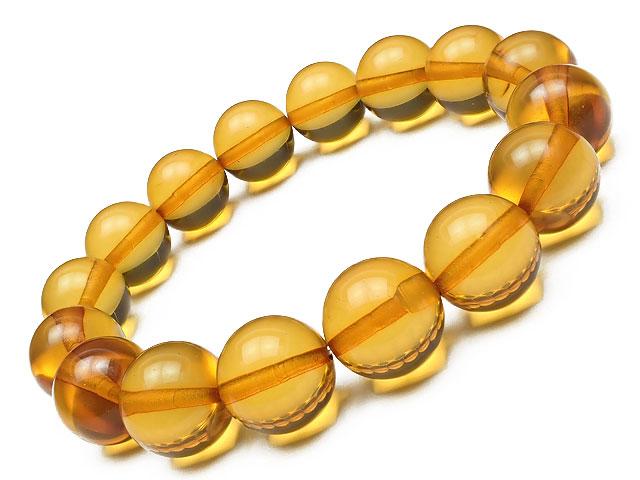 バルティックアンバー(琥珀) 丸玉ブレス 12~13mm No.15【1点もの】