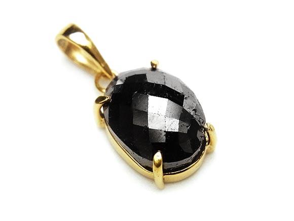 ブラックダイヤモンド ペンダントトップ No.20【1点もの】