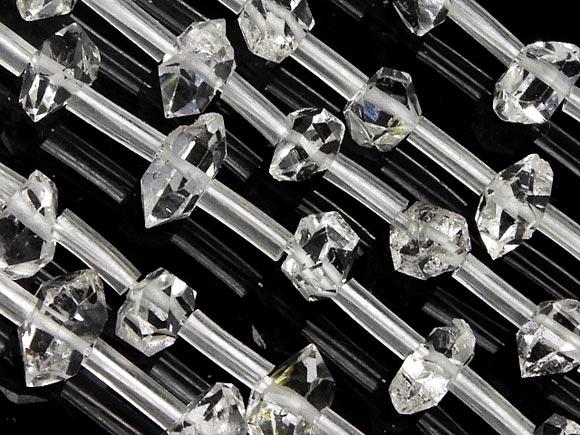 ニューヨーク産 ハーキマーダイヤモンド 原石ビーズ 3~10mm