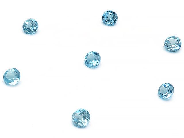 天然石 ビーズ パワーストーン 手作り スイスブルートパーズ コインファセットカット ルース 3mm【10コ販売】▽天然石 ビーズ パワーストーン パーツ 素材 アクセサリー材料