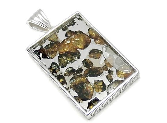 BELLPIERI▼ロシア産 パラサイト セイムチャン隕石 ペンダントトップ 32×22mm No.83【1点もの】 / 送料無料