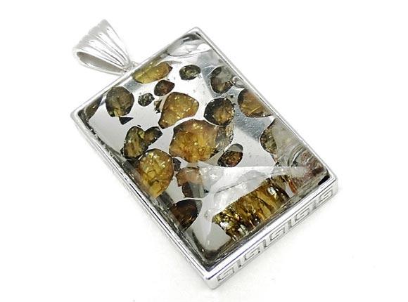 BELLPIERI▼ロシア産 パラサイト セイムチャン隕石 ペンダントトップ 32×22mm No.90【1点もの】 / 送料無料