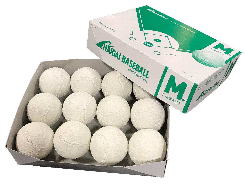 即納 販売開始 ナイガイ 軟式M号 2017年9月~新規格 ダース販売  公認試合球  領収書発行可能 2ダースから送料無料!軟球 野球用品 ボール 公認球 軟式ボール