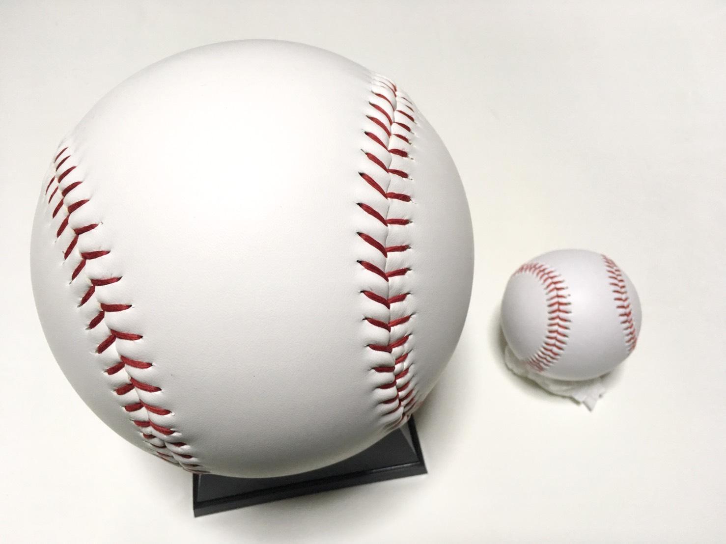 ジャンボなサインボール 美品 台座付き サインボール大 至高 ビッグサインボール 大型サインボール 卒団記念やディスプレーに最適 野球用品 野球ボール 卒部記念 硬球 高校野球 キャンプ用 ファン感謝デー 部活 記念品 卒業記念