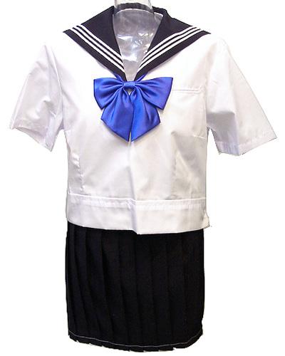wsr-08 東京お嬢様高等学校 夏服 半袖 かぶり セーラー服 上着のみ レディース 白セーラー 白ライン