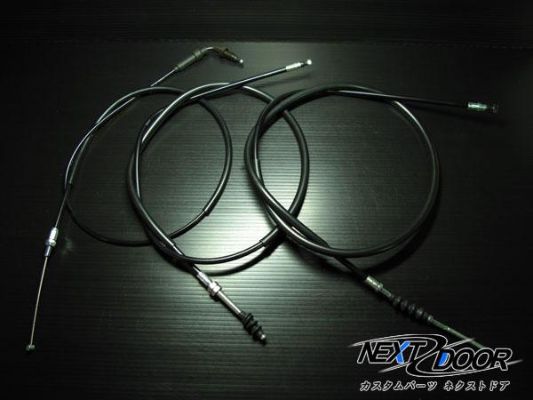 上品 ホンダ エイプ50 FI車 専用ブラックワイヤーセット STD~300mmロング AC16 インジェクション車 国産 送料0円 NEXTDOOR製APE50 XZ50