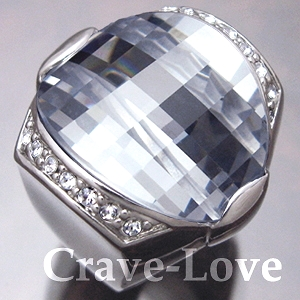 【 訳あり商品 わけあり商品 理由あり B級品 】【 OA489 】 格好いい!!大きなデザインのゴツキラ・リング 指輪 幅広 | 注目度抜群!人目を引くビックサイズ!【 サイズ 14号 】【 Crave-Love Jewelry bijoux Paris 】