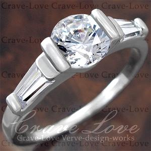 素敵な 3ストーン エレガント デザイン リング/指輪 女性 レディース リング 【 Crave-Love クレィヴ ラブ 】