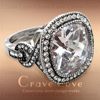 クラシック デザイン 大粒 クッションカット リング 個性的でお洒落なボリューム感のある幅広リング。女性 指輪 レディース ファッション リングトラベルジュエリー プレゼントなどにも・・ 【 Crave-Love Jewelry bijoux Paris 】