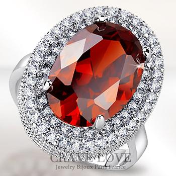 煌く 豪華 オレンジ レッド 大粒 オーバル レディース リング スペサルタイト ガーネットのような綺麗な色 | ボリューム感 女性 指輪 ファッション リング 大きいサイズ もあります。 トラベルジュエリー プレゼント 結婚式 などにも・・