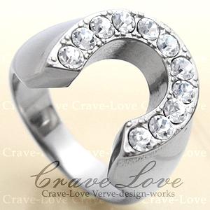 【メンズリング 男の指輪 メンズアクセサリー】ホースシュー シルバー ステンレス メンズ リング 指輪 馬蹄形 ラッキーモチーフ 幸運 ボリューム感 幅広 ファッションリング ジュエリー 大きいサイズもあります。【 Crave-Love Bijoux Paris 】