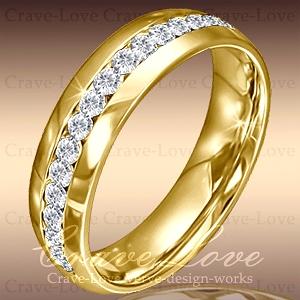 ETERNITY RING 永遠の愛 エターナルリング 煌めく輝く フルエタニティ ステンレス リング G 6mm 18k K18 定番の人気シリーズPOINT ポイント 入荷 もあります キュービックジルコニア Jewelry 指輪 Paris bijoux Crave-Love 大きいサイズ ファッション ゴールド色 直営限定アウトレット ダイヤ色