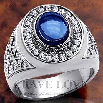 【メンズリング 男の指輪 メンズアクセサリー】 豪華デザイン メンズ ステンレス リング/指輪/RM14 ボリューム感 幅広 | プラチナ シルバー カラー ファッション リング ジュエリー 大きいサイズもあります。【 Crave-Love Bijoux Paris 】