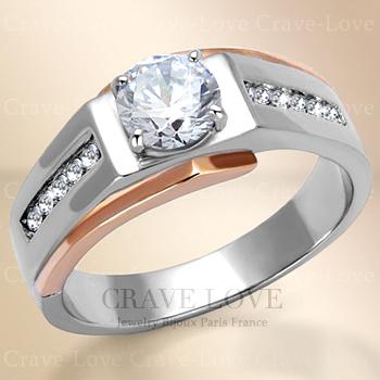 【 メンズリング 男の指輪 メンズ アクセサリー 】おしゃれ メンズ シルバー ステンレス リング RM35 指輪 男性 人気 ファッション リング キュービックジルコニア 【 Crave-Love Bijoux Paris 】