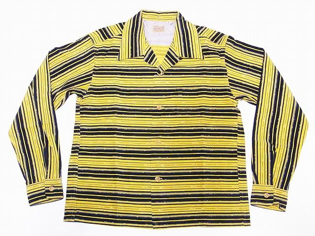 新色追加 STYLE EYES スタイルアイズ 長袖 オープンカラーシャツ SE28258 オープンシャツ 送料無料 代引き手数料無料 コーデュロイ 《週末限定タイムセール》 イエロー スポーツシャツ STRIPES NEP
