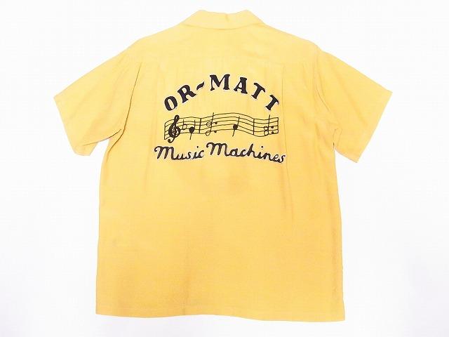 STYLE EYES スタイルアイズ SE38344 ボウリングシャツ ボーリングシャツ 新品 2020 MUSIC 国際ブランド マスタード MACHINES 代引き手数料無料 送料無料 OR-MATT