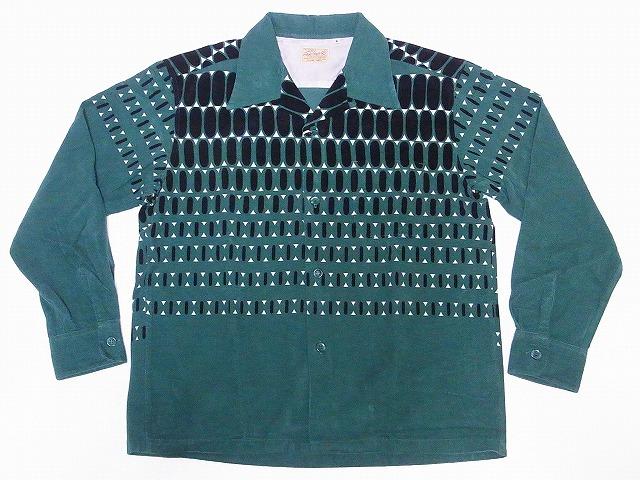 STYLE EYES スタイルアイズ エルヴィスドット 長袖 オープンカラーシャツ SE28532 オープンシャツ グリーン スポーツシャツ ELVIS 信憑 コーデュロイ DOTS 送料無料 エルビスドット 安全 代引き手数料無料
