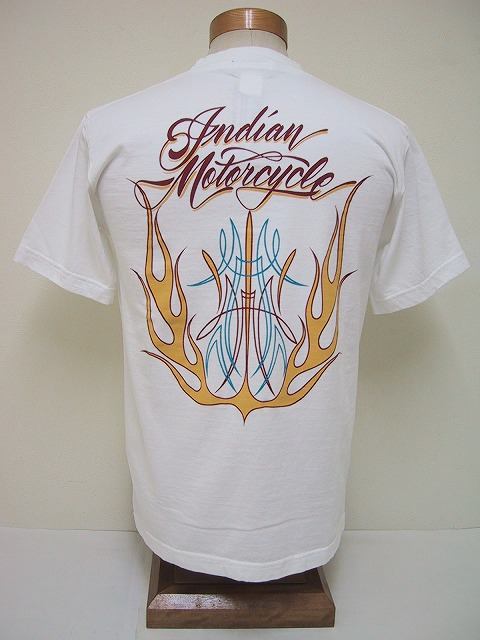 INDIAN MOTORCYCLE[インディアンモーターサイクル] Tシャツ FLAMES (OFF WHITE)