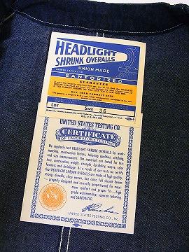 HEADLIGHT [헤드라이트] 엔지니어 재킷 데님 작업 재킷 HD13018A 11oz. DENIM ENGINEER JACKET (NAVY) 대금 상환 수수료 무료