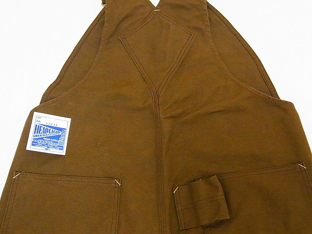HEADLIGHT [headlight] overall brown duck HD41583A 13oz. BROWN DUCK OVERALLS (brown) collect on delivery fee for free