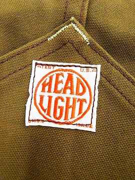 HEADLIGHT[헤드라이트]오바오르브라운닥크 HD41583A 13 oz. BROWN DUCK OVERALLS (브라운) 대금 상환 수수료 무료