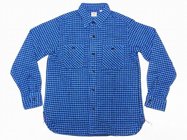 SUGAR CANE[シュガーケーン] ネルシャツ SC28229 ハウンドトゥース 千鳥格子 フランネルシャツ TWILL HOUNDTOOTH L/S WORK SHIRT (ブルー) 送料無料 代引き手数料無料