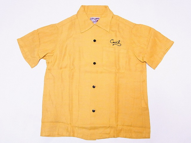 King Louie [King Louis] bowling shirt KL37599 ONION BOY bowling shirt 40's STYLE (yellow) collect on delivery fee for free