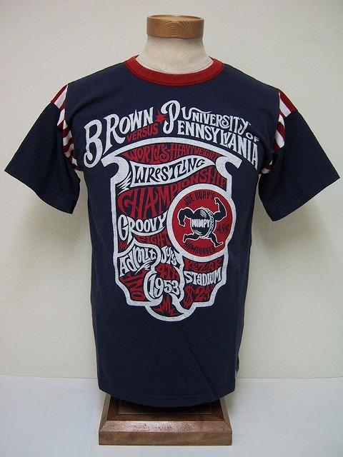 Groovers[グルーヴァーズ] Tシャツ BROWM VS PENNSYLVANIA (NAVY)