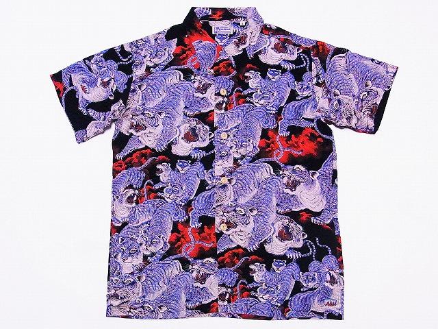 SUN SURF [Sam surf, Hawaiian shirts 100 Tiger Special Edition ONE HUNDRED  TIGER Japanese pattern SS36986 (BLACK) COD fee