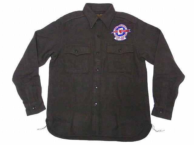 Buzz Rickson's[バズリクソンズ] ウールシャツ BR27673 CPOシャツ VF-194 RED LIGHTNING 長袖 SHIRTS-FLIGHT-WOOLEN (オリーブ) 送料無料 代引き手数料無料