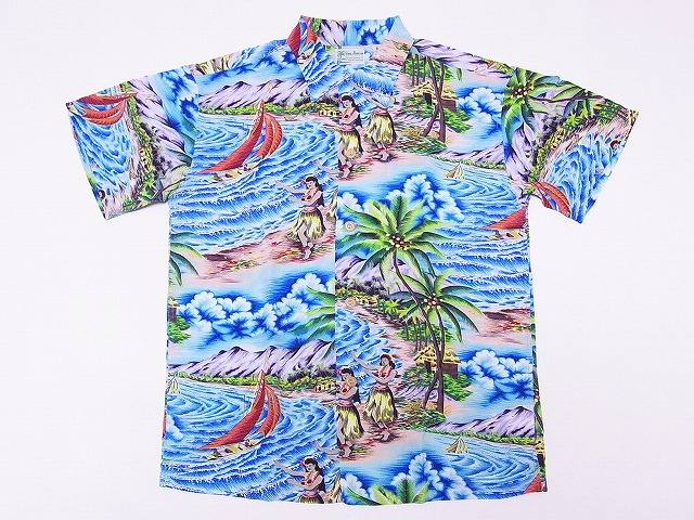 SUN SURF[サンサーフ] アロハシャツ SS37253 スペシャルエディション HULA MA KAI 洋柄 (NAVY) 送料無料 代引き手数料無料