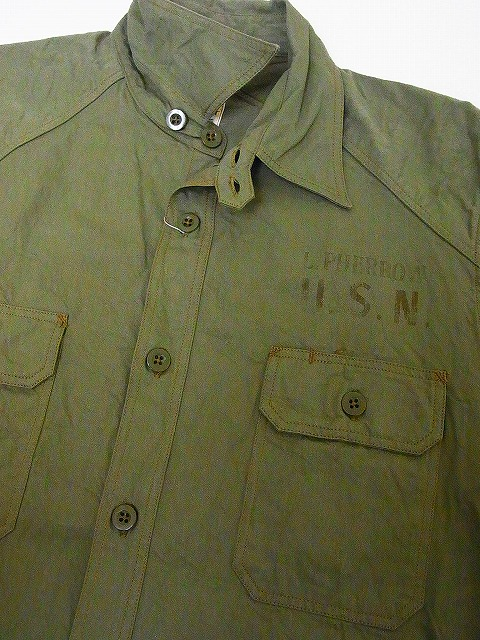 Pherrow's [Fellows' work shirt 15W-780WS-SEA DEVILS long-sleeved times refill military slave Twill SEA DEVILS (olive) cash on delivery fees