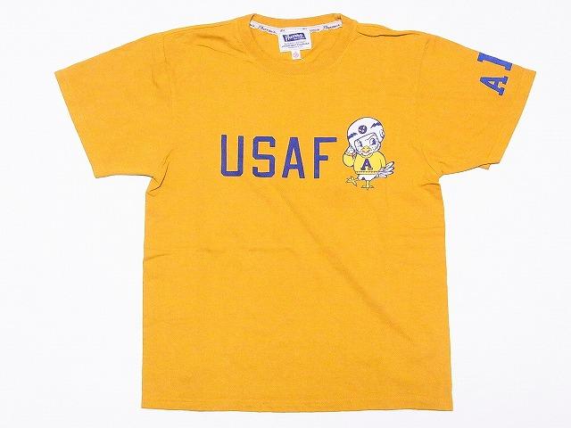 Pherrow's[フェローズ] Tシャツ 16S-PT10 USAFA (マスタード)