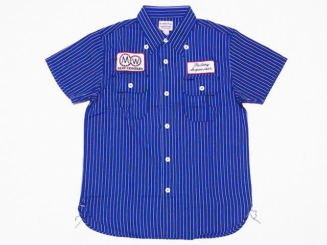 Pherrow's[フェローズ] 半袖ワークシャツ 17S-PWBD1-S 半袖シャツ ワークシャツ (ネイビー) 送料無料 代引き手数料無料