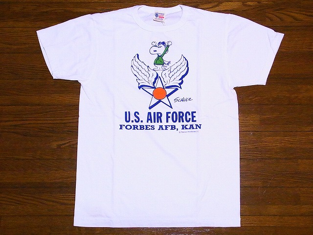 Buzz Rickson's [due] × Snoopy PEANUTS [peanut] T shirt SNOOPY U. S. AIR FORCE BR76842 (OFF WHITE)