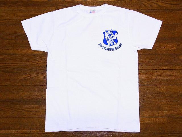Buzz Rickson's[바즈리크손즈] T셔츠 23 rd FIGHTER GROUP BR76956 부정 출발 타이거스(WHITE)